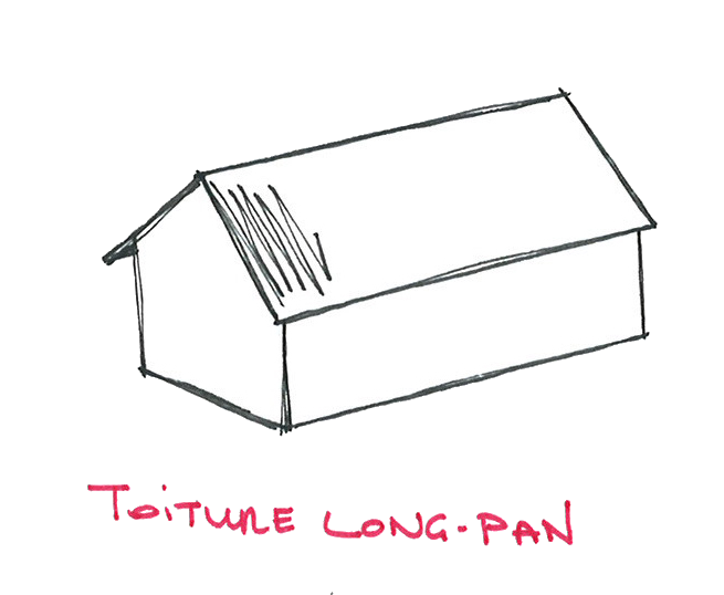 Toiture Long pan CAUE 39